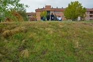La parcela donde se ha retirado la iglesia modular instalada previamente.